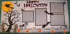 Halloween Layout with Cricut
