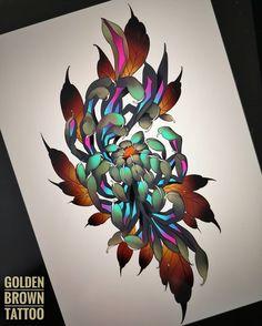 Projet cliente / Design for client ☺️ Japanese Flower Tattoo, Japanese Dragon Tattoos, Japanese Sleeve Tattoos, Japanese Flowers, Japanese Art, Tatuajes Irezumi, Irezumi Tattoos, Flower Tattoo Designs, Flower Tattoos