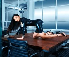 (Latex) Fashion etc. Sexy Latex, Asian Love, Sexy Asian Girls, Leather And Lace, Leather Pants, Harley And Joker Love, Leather Catsuit, You At Work, Club Shirts