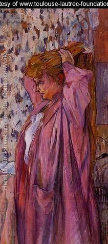 The Madame Redoing Her Bun - Henri De Toulouse-Lautrec - www.toulouse-lautrec-foundation.org