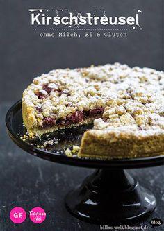 Kirschstreuselkuchen glutenfrei, vegan und mit ganz viel Knusper! – Billas Welt