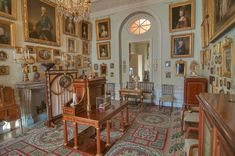 Heavily decorated room in Pavlovsky Palace, Pavlovsk, a suburb of Saint Petersburg, Russia.