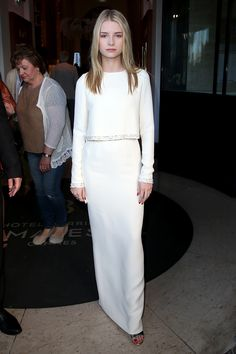 15 May Lottie Moss was seen leaving her hotel looking elegant in white Dior.   - HarpersBAZAAR.co.uk