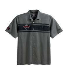 harley-davidson-men-s-s-s-colorblocked-patch-shirt-99078-12vm Harley Davidson Gear, Harley Gear, Harley Davidson Motorcycles, Harley Apparel, Biker Wear, My Ride, My Style, Sleeve, Clothing
