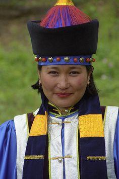 Buryat Woman, Russia, Siberia.