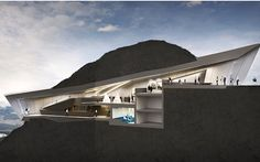The museum is designed to blend into its environment. Photo: Zaha Hadid Architects via The Telegraph