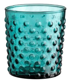 Check this out! Tumbler in textured glass. Diameter 3 1/4 in., height 3 3/4 in. - Visit hm.com to see more.