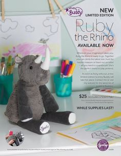 Scentsy Buddy Ruby Rhino is a limited edition soft, squishy, scented stuffed animal. Scentsy Buddies make great gifts, and Ruby Rhino will be gone quick! All You Need Is, Scentsy Catalog, Southern Sweet Tea, Wax Warmers, Good Buddy, Too Cool For School, Scented Wax, Great Christmas Gifts, Paint Brushes