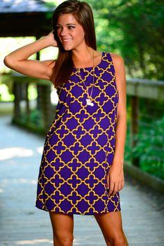 Carry Me Away Dress, Purple/Gold