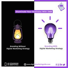 The light of your branding strategy won't illuminate your business until you connect it with a digital one. Connect with us and get the best digital marketing services and strategies for your business. Free Consultation- 097942 00200 Top Digital Marketing Companies, Digital Marketing Strategy, Connect, Branding, Business, Free, Brand Management, Store, Identity Branding