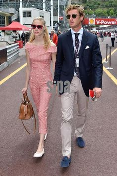 Pierre Casiraghi and fiance Beatrice Borromeo at the Monaco Grand Prix 5/23/2015