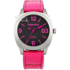 This is the Superdry Charterhouse watch SYL115P. The bright neon pink colour and lightweight design has made this an instant hit.  Find this item here: http://www.nigelohara.com/superdry-ladies-charterhouse-bright-pink-watch-syl115p-pid23546.html Or view our full range of Superdry watches here: http://www.nigelohara.com/designer-watches/?refine=1780