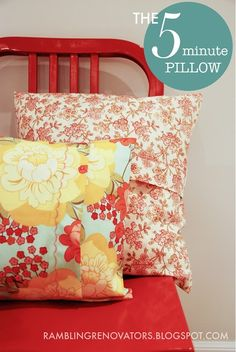 Add a new look to any room in under an hour with a set of these quick to stitch pillows.
