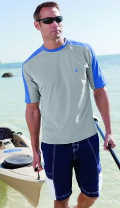 b92a6466fc8 Our Short Sleeve Crewneck Swim Shirt is long on comfort with fast-dry  material