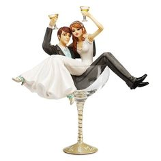 shoe lover wedding cake toppers | Hiccup Champagne Glass Wedding Cake Topper…