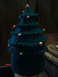 Christmas tree hat by Heather.