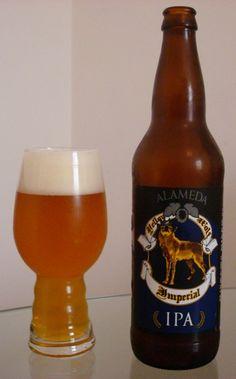 Cerveja Alameda Yellow Wolf Imperial IPA, estilo Imperial / Double IPA, produzida por Alameda Brewing, Estados Unidos. 8.2% ABV de álcool.