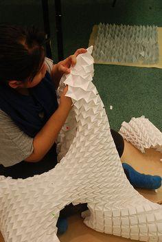 layering Tess Origami