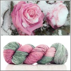Expression Fiber Arts Yarn - ICY ROSE SUPERWASH MERINO SILK PEARLESCENT WORSTED, $30.00 (http://www.expressionfiberarts.com/products/icy-rose-superwash-merino-silk-pearlescent-worsted.html)