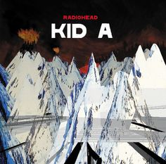 Kid A is the fourth album by rock band Radiohead. Released in the October of this album summarizes the distinct sound that makes up Radiohead. Radiohead Albums, Radiohead Poster, Top 100 Albums, Great Albums, Music Album Covers, Music Albums, Cd Cover, Cover Art, World Music