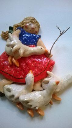 Shepherdess (salt dough) by Gabriella Vantini