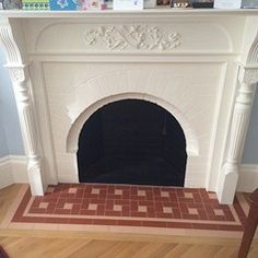 Simple Hearth By Roma Tile, using Original Style's Victorian Floor Tile collection which are available from Welby & Wright. Great way to spruce up your hearth.