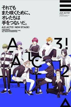 A3! 第二部キービジュアル Cute Anime Boy, I Love Anime, Anime Guys, Gaming Banner, Boy Poses, Anime Poses, Ensemble Stars, Boy Art, Pretty Boys
