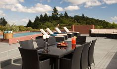 Cavedale Ridge - Sonoma County -  Poolside.  3 BR luxury vacation rental available from BeautifulPlaces.