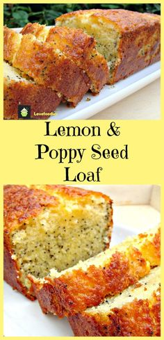 A wonderful gentle flavored, soft cake, perfect with a cup of tea! This is a lovely cake for freezing, either in slices or as a whole! Lemon Desserts, Lemon Recipes, Just Desserts, Sweet Recipes, Baking Recipes, Cake Recipes, Dessert Recipes, Lemon Poppy Seed Loaf, Cupcake Cakes