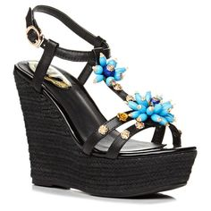 Graceful T-Strap and Bead Design Women's Sandals #>=#>=#>=#>=#> Click on the pin to check out discount price, color, size, shipping, etc. Save and like it!