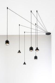 Interior Lighting, Home Lighting, Modern Lighting, Lighting Design, Drop Ceiling Lighting, Pendant Lighting, Ceiling Lights, Marble Kitchen Interior, Lampe Industrial