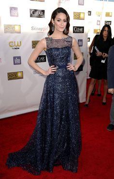 Critic's Choice Awards 2013  Emmy Rossum en Carolina Herrera.