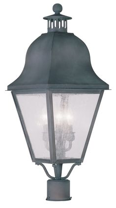 Livex Lighting 2556-61 Amwell Post Mount Charcoal