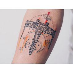 Repost from almost a year ago Tatoo Star, Star Wars Tattoo, Star Tattoos, All Tattoos, Body Art Tattoos, Sleeve Tattoos, Nerd Tattoos, Anchor Tattoos, Feather Tattoos