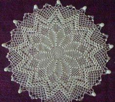 Beaded milk jar doilie Beaded Crochet, Crochet Art, Crochet Doilies, Crochet Ideas, Crochet Projects, Free Crochet, Crochet Patterns, Beaded Angels, Craft Activities