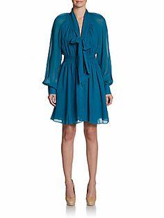 Arielle Bishop-Sleeve Dress