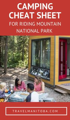 Your camping cheat sheet for Riding Mountain National Park Camping Places, Go Camping, Camping Ideas, Summer Bucket, Summer Travel, Weekend Trips, Day Trips, Tent Trailer Camping, Riding Mountain National Park