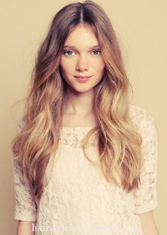 ombre hairstyle picture image photo beauty hair (8) http://www.hairstylebeautynails.com/hairstyles/ombre-hairstyle-21/