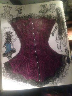 GORGEOUS leather corsets designed and created by Ira at Demonic Skins and Sacraments