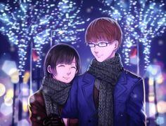 Nishio Nishiki and Nishino Kimi ||| Tokyo Ghoul Fan Art