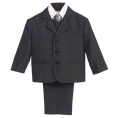 9e3cea781 Baby Boys Dark Grey Wedding Easter 5 Pcs Special Occasion Suit 18-24M,  Infant