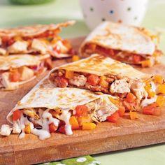Quesadillas au poulet - Recettes - Pratico Pratiques