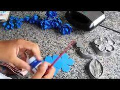 Como fazer Flor de Papel Crepom com Bombom - YouTube