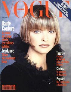 Linda Evangelista en couverture du numéro de septembre 1993 de Vogue Paris