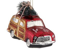 Woody Car With Tree Pine Christmas Inspiration Time