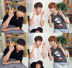 L, Sungyeol and Sungjong ❤