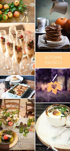 Autumn Brunch Inspiration Board | Fall | Apples | Leaves | Dining | Entertaining