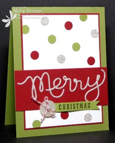 Polka Dot Christmas #SUO - Dots are punched using the circle punch from the bitty punch pack