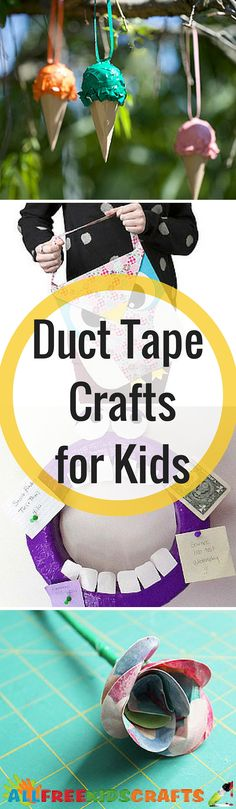 These duct tape crafts are just AMAZING.