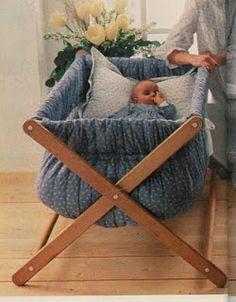 Soniando...: Berço para bebê - Faça você mesma!!!